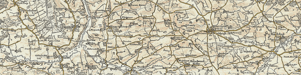 Old map of Barwick in 1899-1900