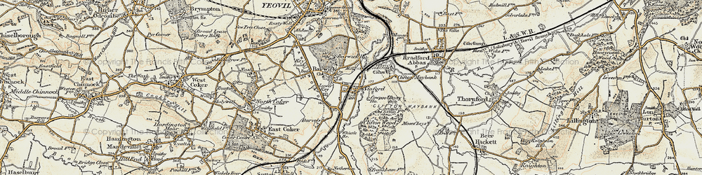 Old map of Barwick in 1899
