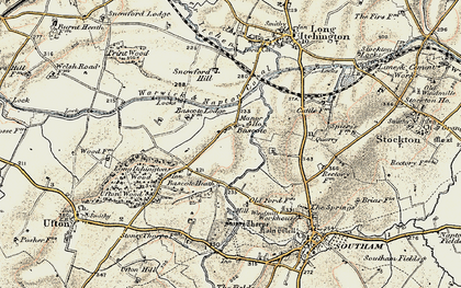 Old map of Bascote in 1898-1902