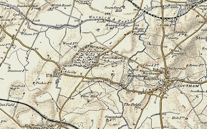 Old map of Bascote Heath in 1898-1902