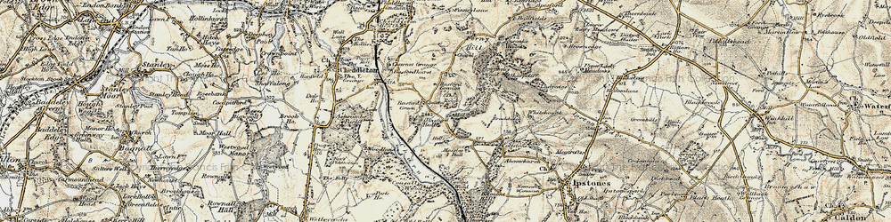Old map of Whitehough in 1902