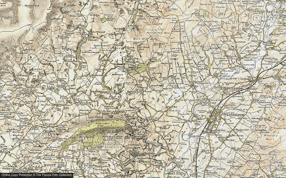 Old Map of Bashall Eaves, 1903-1904 in 1903-1904