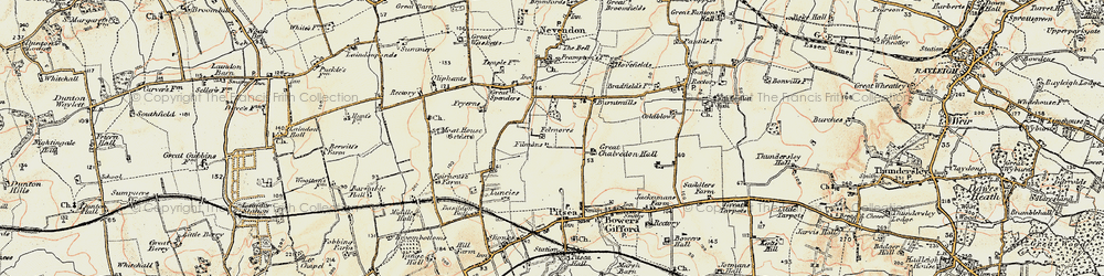 Old map of Basildon in 1898