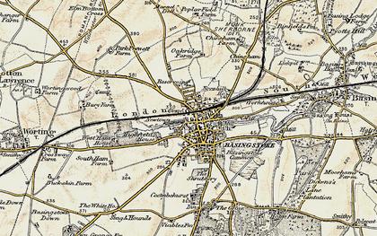Old map of Basingstoke in 1897-1900