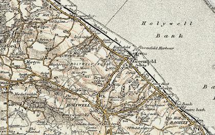 Old map of Basingwerk Abbey in 1902-1903