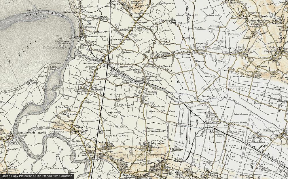 Old Map of Bason Bridge, 1898-1900 in 1898-1900