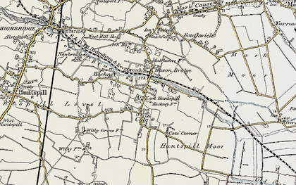 Old map of Bason Bridge in 1898-1900
