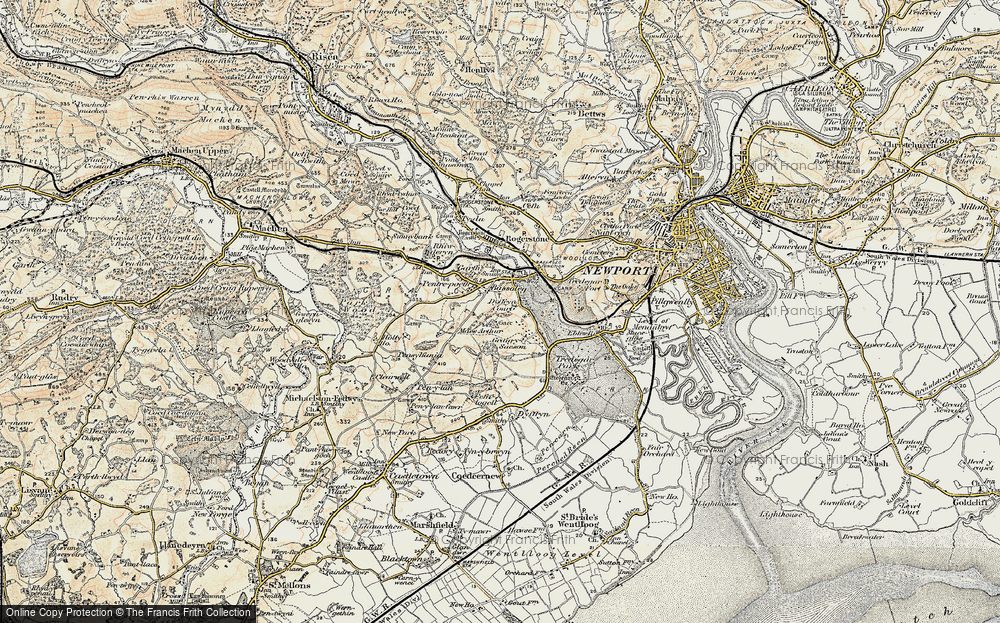 Old Map of Bassaleg, 1899-1900 in 1899-1900