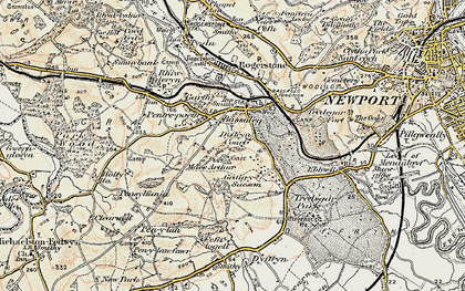Old map of Bassaleg in 1899-1900