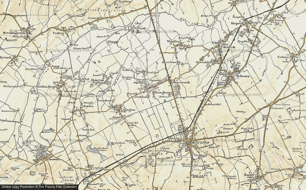 Old Map of Bassingbourn, 1898-1901 in 1898-1901