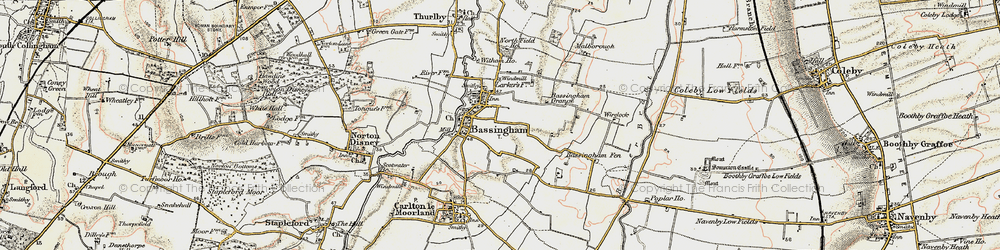 Old map of Wirelock in 1902-1903
