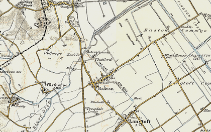 Old map of Baston in 1901-1903