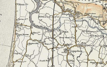 Old map of Batch in 1899-1900