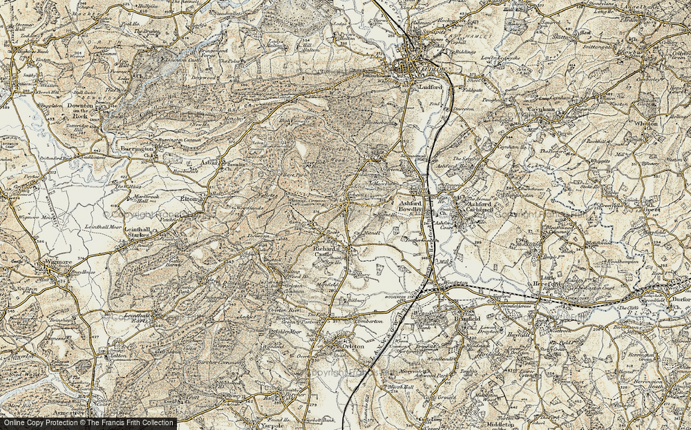 Old Map of Historic Map covering Woodcroft in 1901-1902