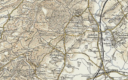 Old map of Woodcroft in 1901-1902