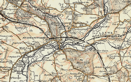 Old map of Batchworth in 1897-1898
