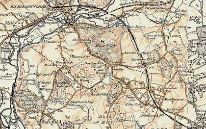 Old map of Batchworth Heath in 1897-1898