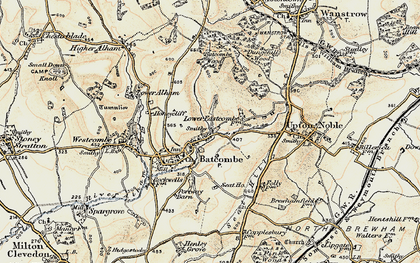Old map of Batcombe in 1899