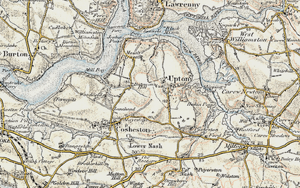 Old map of Bateman's Hill in 1901-1912
