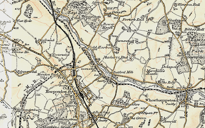 Old map of Batford in 1898-1899