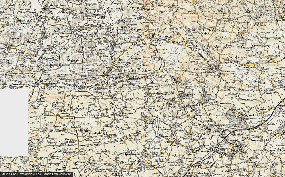 Old Map of Bathealton, 1898-1900 in 1898-1900