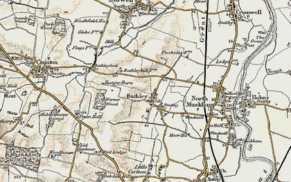 Old map of Worner Wood in 1902-1903