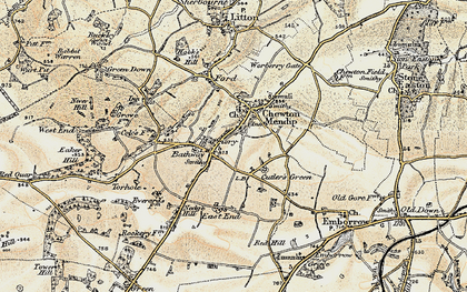 Old map of Bathway in 1899