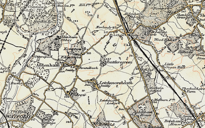 Old map of Batlers Green in 1897-1898