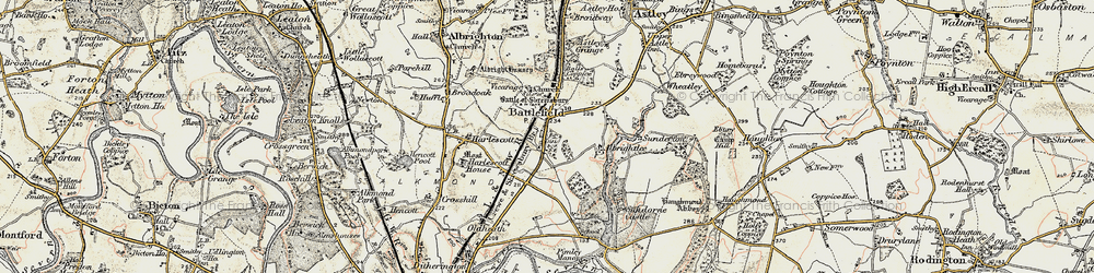 Old map of Albrightlee in 1902
