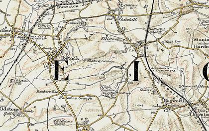 Old map of Battram in 1902-1903