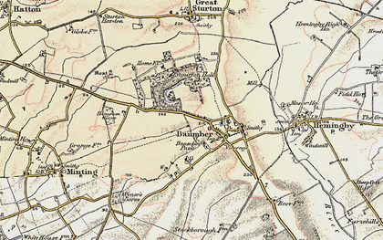 Old map of Baumber in 1902-1903