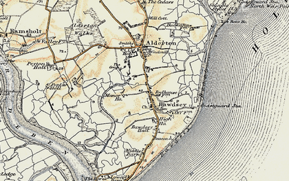 Old map of Bawdsey in 1898-1901