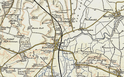 Old map of Bawtry in 1903