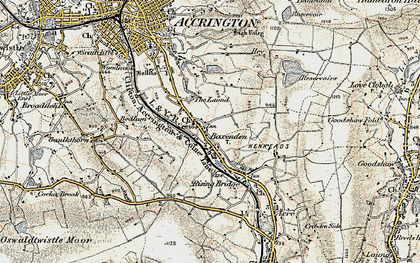 Old map of Baxenden in 1903