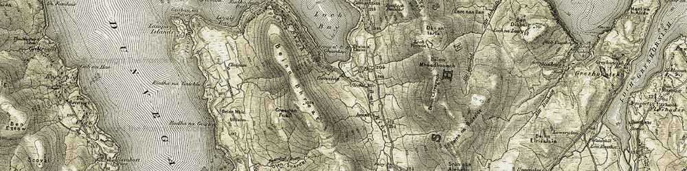 Old map of Allt Suardal in 1909-1911