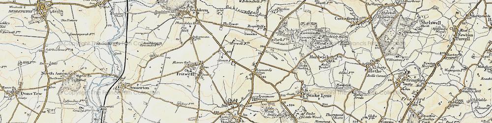 Old map of Baynard's Green in 1898-1899