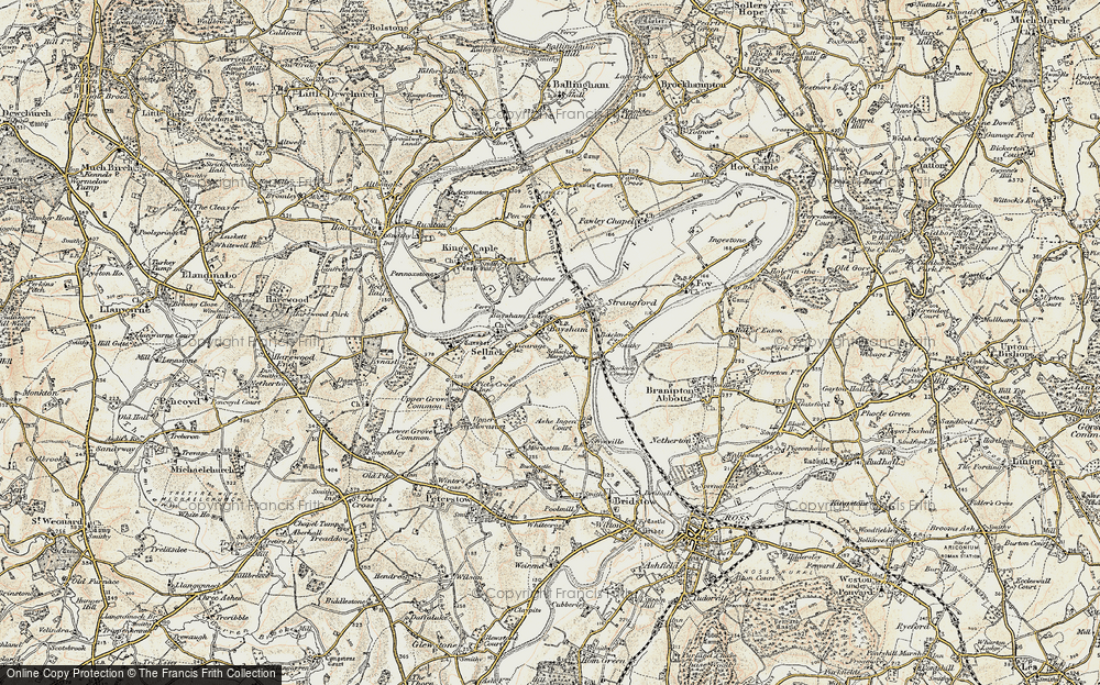 Old Map of Historic Map covering Ashe Ingen Court in 1899-1900