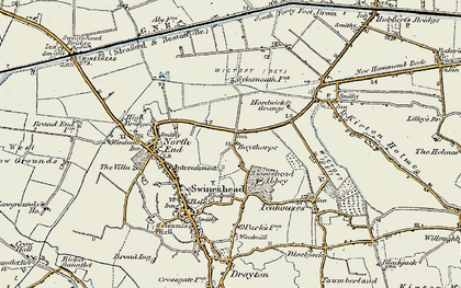 Old map of Baythorpe in 1902-1903