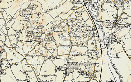 Old map of Bayworth in 1897-1899