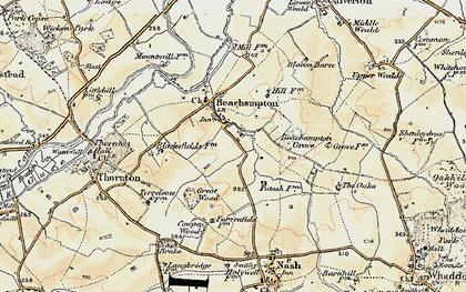Old map of Beachampton in 1898-1901