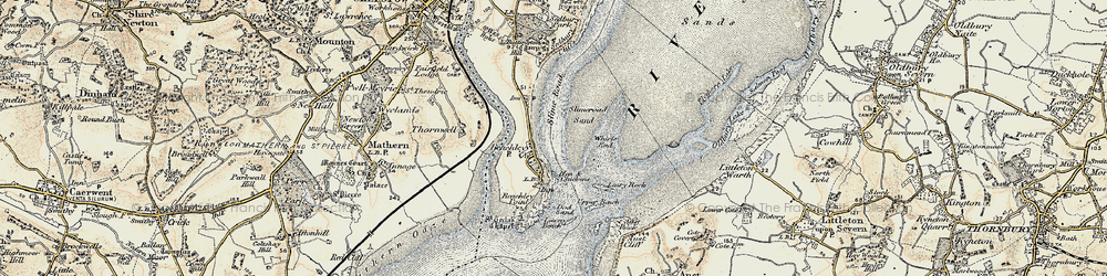 Old map of Whirls End in 1899