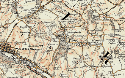 Old map of Beacon Hill in 1897-1898