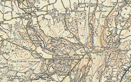 Old map of Beacon Hill in 1897-1909