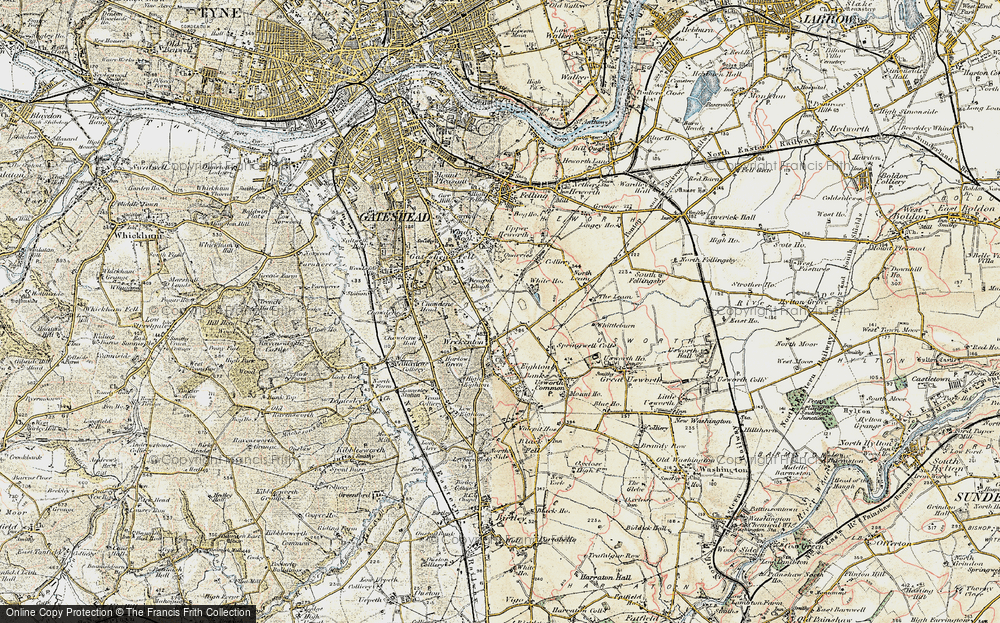 Old Map of Beacon Lough, 1901-1904 in 1901-1904