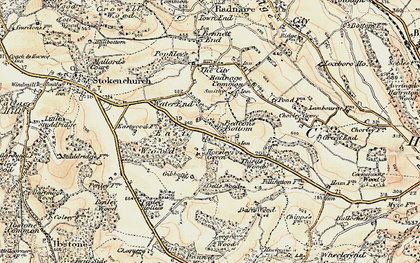 Old map of Beacon's Bottom in 1897-1898
