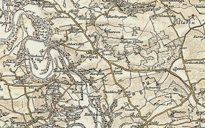 Old map of Ashwell in 1899-1900
