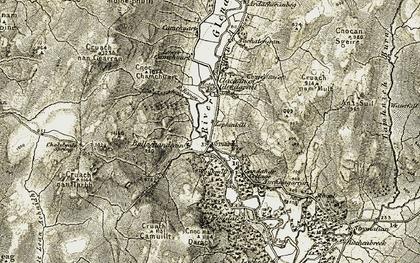 Old map of Auchnagarron in 1905-1907