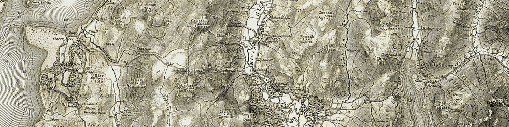 Old map of Lephinkill in 1905-1907