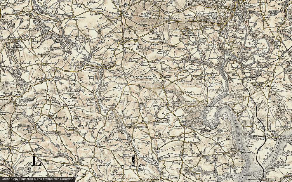 Old Map of Historic Map covering Axford in 1899-1900