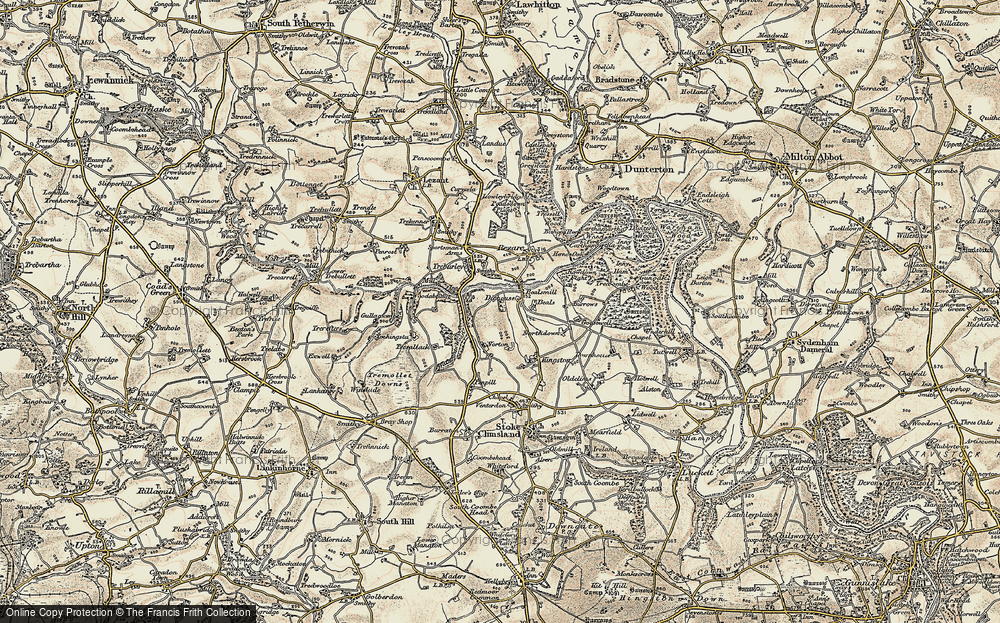 Old Map of Historic Map covering Wooda Bridge in 1899-1900